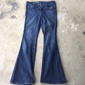 Anthropologie pilcro medium wash flare jeans